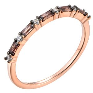 Stunning new Rose Plated Silver Cubic Eternity ring