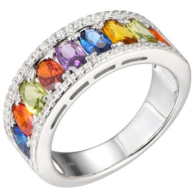 New Rainbow Cubic Zirconia Ring